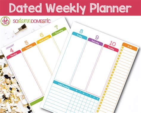 printable planner weekly 2016 2016 dated weekly planner printable