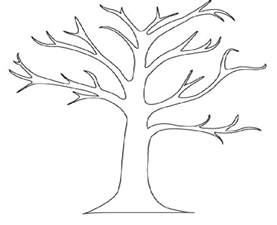 tree coloring tree coloring pages tree coloring pages no leaves
