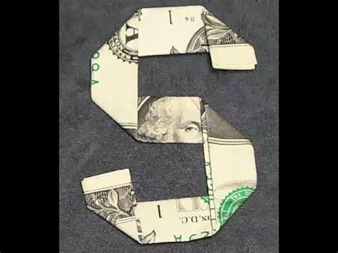 Money Origami Letters - fold origami dollar bill alphabet letter s