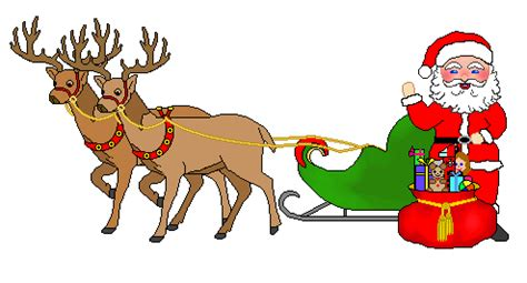 Santa And Reindeer Clipart - Clipart Suggest Free Clip Art Santa And Reindeer