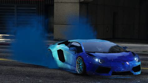 Blue Galaxy Livery For Lamborghini Aventador Liberty