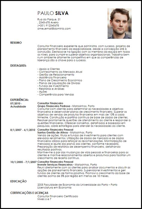 Modelo Curriculum Vitae Por Competencias Modelo Curriculum Vitae Consultor Financeiro Livecareer
