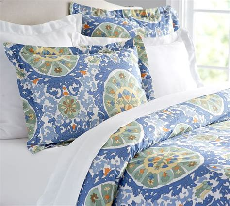 pottery barn king comforter corrine suzani duvet cover sham pottery barn
