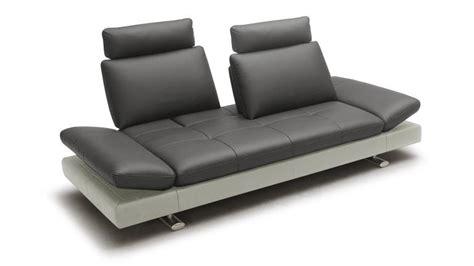 canapé modulable en cuir canap 233 3 places relax cuir minho mobilier moss