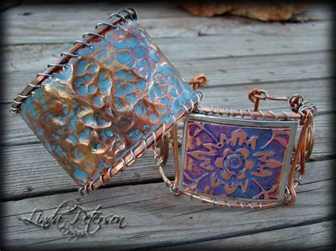 how to make hammered metal jewelry hammered copper cuff bracelet favecrafts