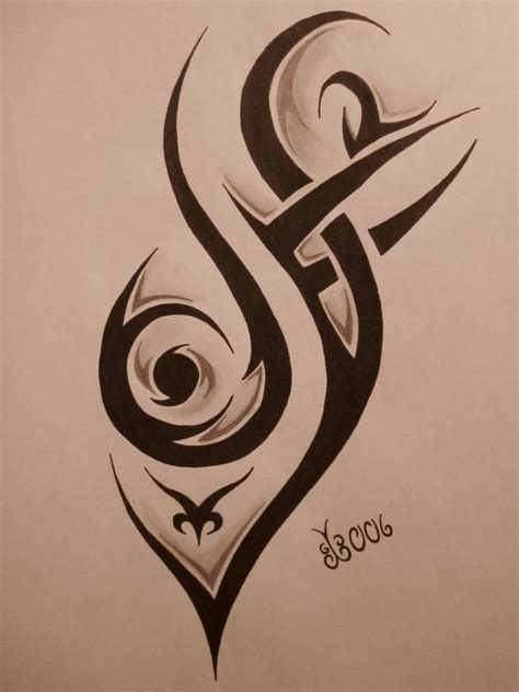 drawings of tribal tattoos tribal design 4 by blackbutterfly006 on deviantart