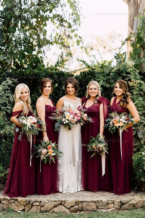 Wedding Dresses Bridesmaid by Burgundy Wedding Guest Dresses Bridesmaid Dresses 3010194