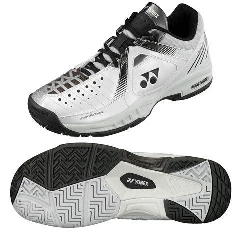 durable shoes for yonex mens sht durable tennis shoes white grey