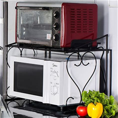 Corner Shelf For Microwave by 2 Tiers Iron Microwave Oven Storage Rack Space Saving