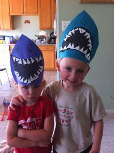 How To Make A Paper Shark Hat - paper plates sharks and shark craft on