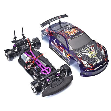 rc drift cars hsp rc drift car 4wd 1 10 scale electric power on road