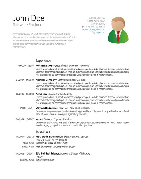 Resume Samples In Pdf File by Github Oschrenk Moderncv Template A Resume Curriculum
