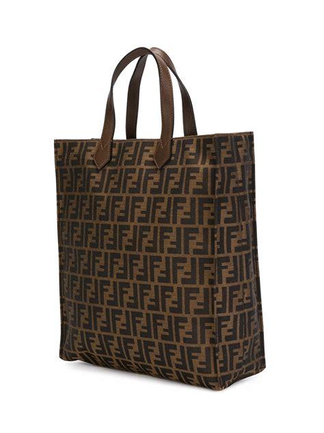 Fendi Shopper fendi ff logo shopper tote in brown lyst