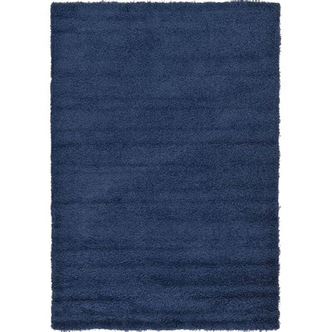 Solid Navy Blue Area Rug Unique Loom Solid Shag Navy Blue 6 Ft X 9 Ft Area Rug 3127886 The Home Depot