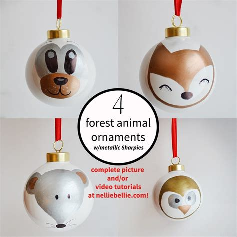 sharpie ornaments 4 forest animal ornaments