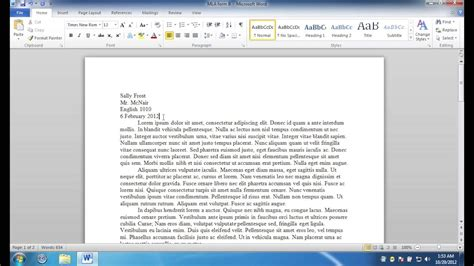 how to get the mla format template for microsoft word youtube inside