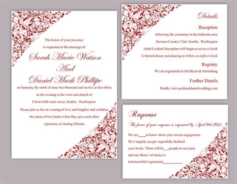 wedding invitation editable template wedding invitation editable templates wblqual