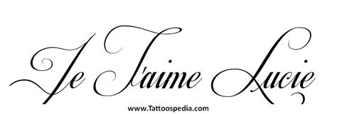 je t aime tattoo tattoospedia