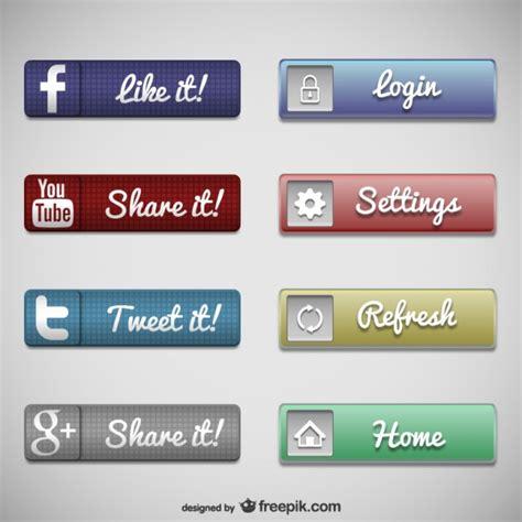 imagenes de botones web gratis colecci 243 n de botones web descargar vectores gratis