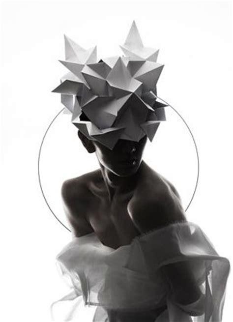 Origami Hats Designs - qi hu origami headgear textiles fibre arts