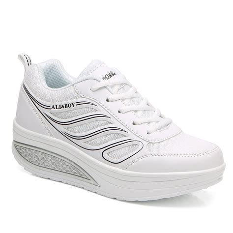 trendy s athletic shoes with mesh and lace up design