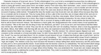 To Kill A Mockingbird Character Analysis Essay by Character Analysis Of Scout And Jem In Quot To Kill A Mockingbird Quot At Essaypedia
