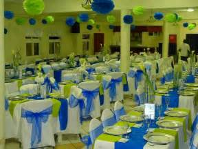 lime green decorations royal blue and lime green wedding reception decor