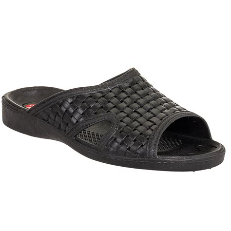 okabashi mens sandals okabashi mens black weave ergonomic waterproof massaging