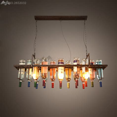 aliexpress buy led style antique l sconces pendant creative recycled retro ceiling pendant ls hanging wine bottle led light dining room bar