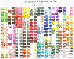 copic markers color chart copic markers color chart