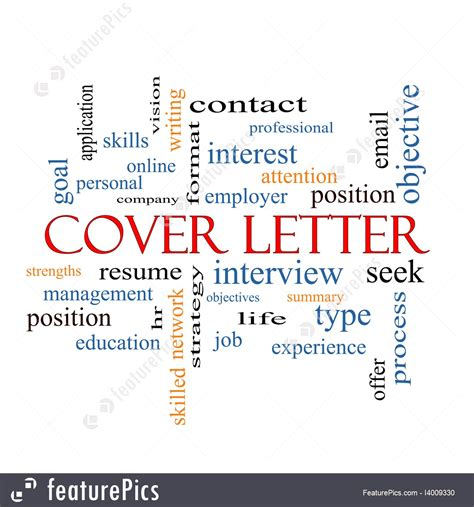 strong cover letter words cover letter word cloud concept illustration