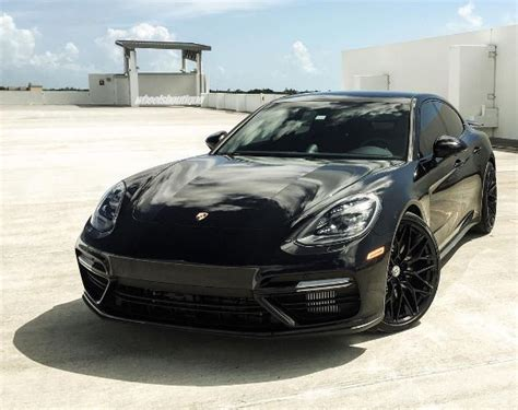 porsche panamera turbo black back in black 2018 porsche panamera turbo gets stunning