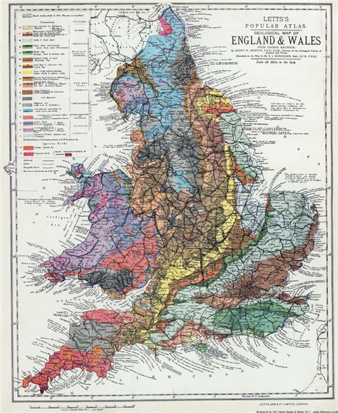 geological map of wales 1883 by h w barstow