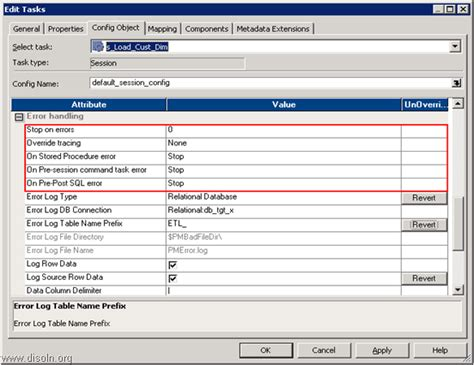 workflow recovery in informatica chinna informatica tutorial error handling options and