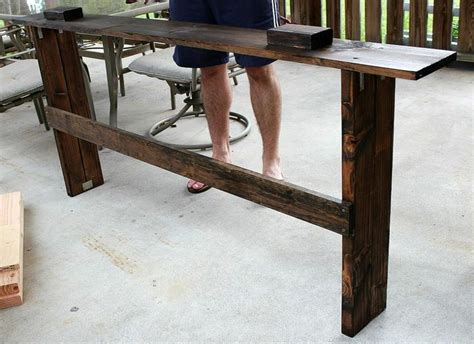 simple sofa table simple diy sofa table tutorial