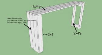 How To Build A Sofa Table Diy Console Table Plans