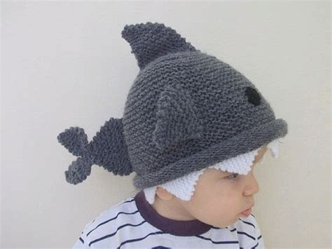 Baby Shark Hat | shark hat knitting baby hat for baby or toddler size 6 12