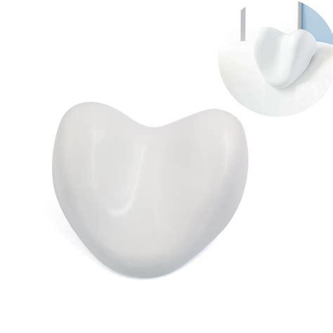 bathtub pillow for back white waterproof heart shape soft spa bath pillow neck