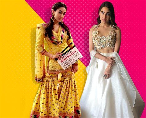 actress of kedarnath kedarnath actress sara ali khan ethnic looks in sharara