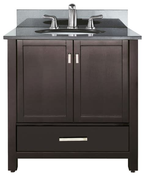 Vanity Sink Combo by Modero 36 Vanity Combo Espresso Black Granite Top