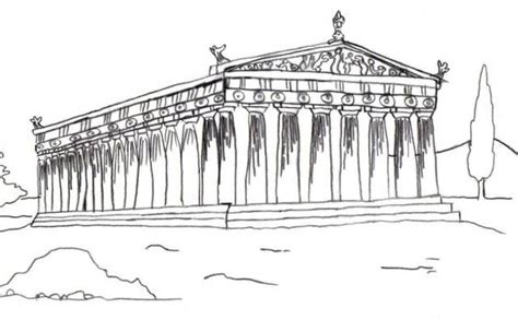 ancient parthenon coloring page coloring pages