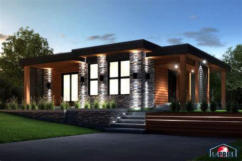 Deco Mur Interieur Moderne 3880 by Laprise Kit Homes Designer Zen Contemporary Lap0506
