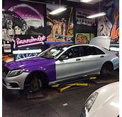 Mercedes S Class Wrapped In Purple For Footballers Wife