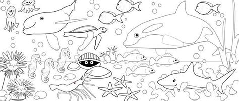 free coloring pages underwater animals under the sea coloring pages to download and print for free