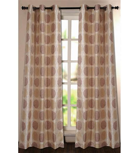 beige and burgundy curtains deco window burgundy and beige 7 5 ft door curtain by deco