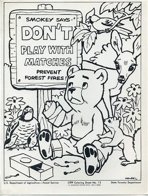smokey the bear coloring sheet flickr photo sharing