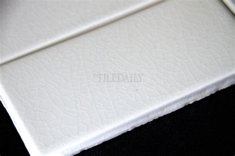 P0080   3x6 Crackle Glazed Porcelain Tile, White #tile #