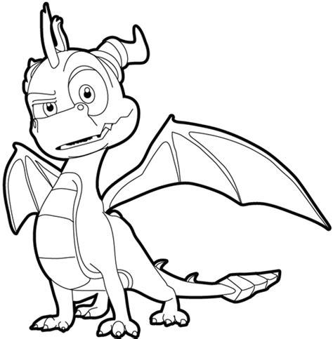 How To Draw Spyro The Dragon With Easy Step By Step Spyro Coloring Pages