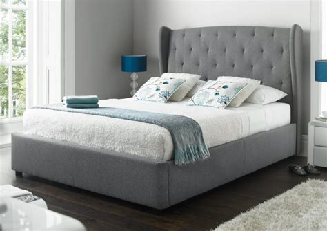 storage bed ottoman richmond upholstered winged ottoman storage bed bedroom