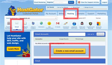 hosgator email hosting review    unlimited mail boxes